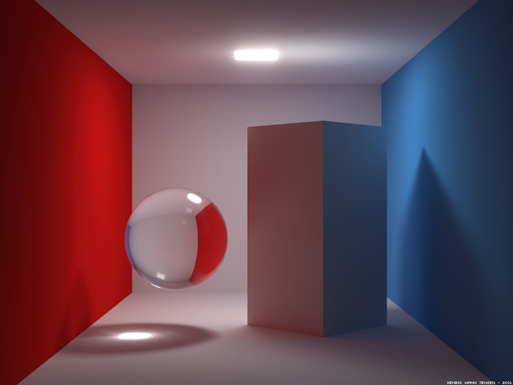 The original Cornell box contains only diffuse materials. With photon mapping it is easy to render any type of material and in this box scene the left cube ... & Cornell box images by Henrik Wann Jensen azcodes.com