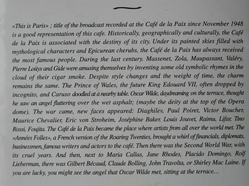 description of a cafe