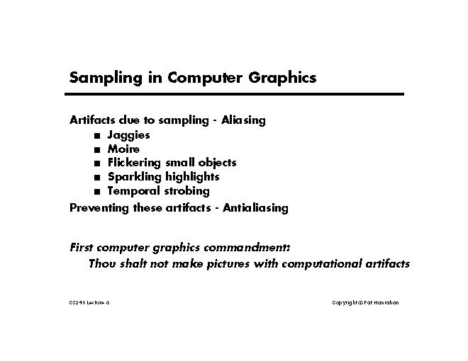 Lecture 6: Basic Signal Processing and Sampling