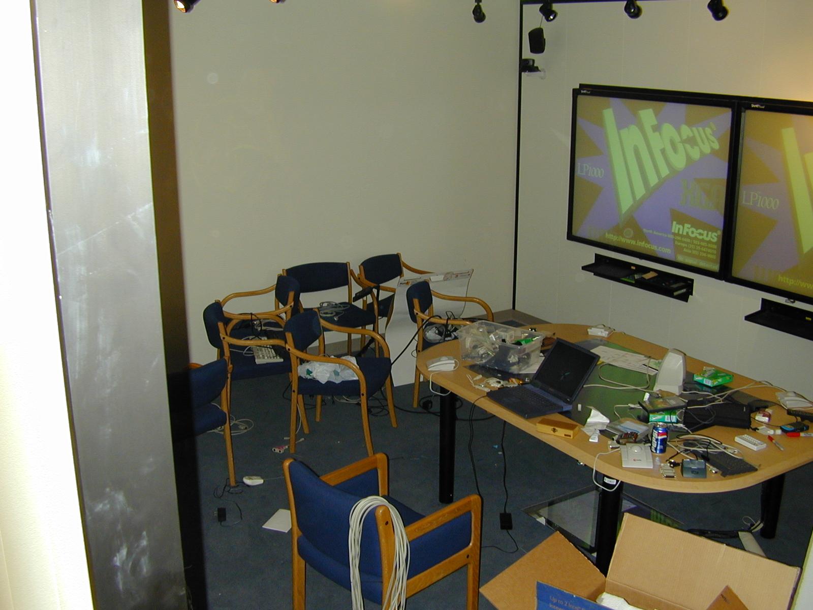 Iroom Photos Rewiring A Room The Installation Of Smartboard1