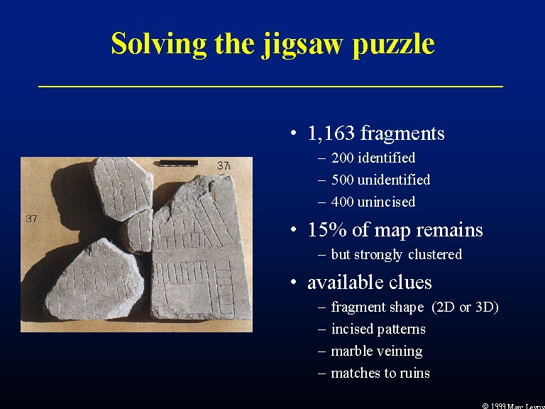 Solving the jigsaw puzzle