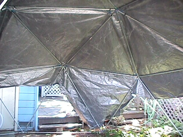 Geodesic Dome Covering Assembly