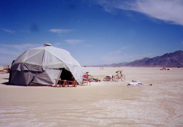 A Rainproof Geodesic Dome for Burning Man